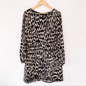 LOFT | NWT Animal Print Long Sleeve Dress Sz 10